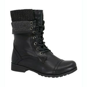 Taxi Soho Combat Boot Black